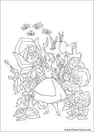drawings paint u0026 colour alice wonderland print design 006