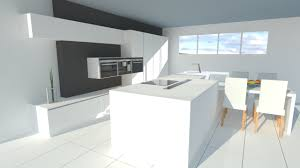 ilot cuisine blanc enchanteur cuisine blanc mat sans poignée et conceptions de cuisines