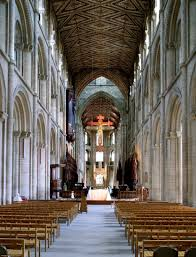 the nave of peterborough cathedral 1118 93 in three stages of