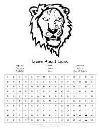 lion word search woo jr kids activities