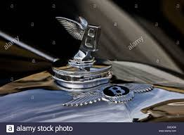 winged ornament on bentley r type continental car stock photo