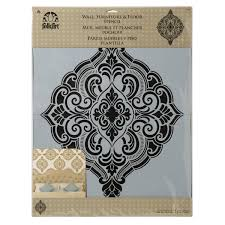 folkart home decor wall stencils ornate damask 34964