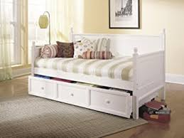 White Trundle Daybed Size Wood Daybed In White Finish W Trundle