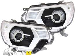 2008 toyota tacoma fog light kit 12 15 toyota tacoma led halo headlights hid retrofit kit