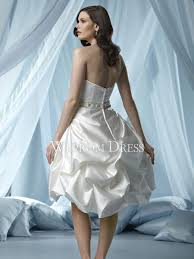 Knee Length Wedding Dresses Ball Gown A Line Natural Knee Length Satin Ivory Rectangle