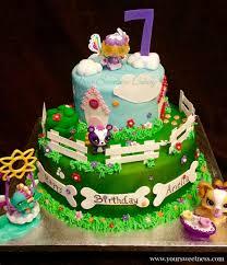 littlest pet shop cake puppy cake dog cake dog bone little