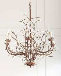 branch chandelier 6 light iron branch chandelier neiman