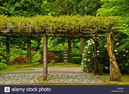 trellis strolling garden portland japanese garden oregon usa