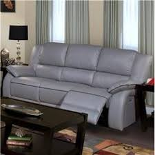 Grey Reclining Sofa Awesome Grey Leather Reclining Sofa 58 For Sofa Table Ideas With