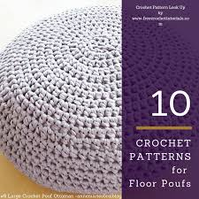 Crochet Ottoman Pattern 10 Crochet Patterns For T Shirt Yarn Floor Poufs Free Crochet