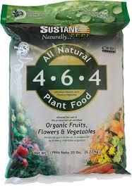 all natural flower food sustane 4 6 4 plant food