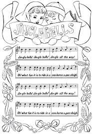 jingle bells coloring pages christmas jingle bells coloring pages