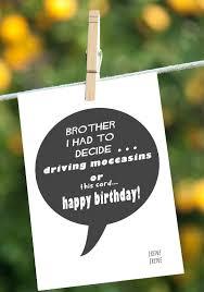 funny brother birthday card happy birthday brother greeting