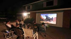 Backyard Projector Elite Screens Diy Outdoor Projection Screen Youtube