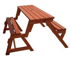 Diy Collapsible Picnic Table by Creative Ideas Diy Folding Bench And Picnic Table Combo Picnic