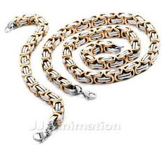 silver byzantine chain necklace images 9 6mm huge rose gold silver byzantine chain jewelry set jpg