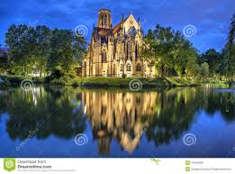 stuttgart church st john u0027s church at the evening in stuttgart stock photo image