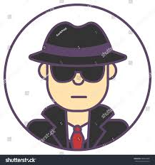 thanksgiving avatars vector spy man avatar man black stock vector 386819848 shutterstock