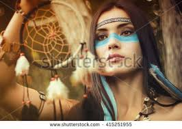 portrait beautiful native american indian stock photo