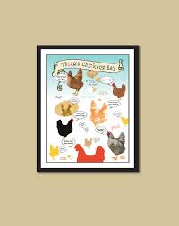 chicken poster chicken sayings chicken print coop
