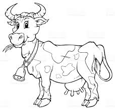 cow cartoon black and white u2013 images free download