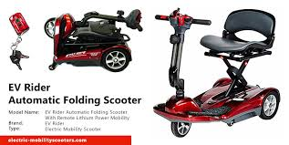 the lexis light foldable mobility scooter ev rider automatic folding scooter with remote lithium power review