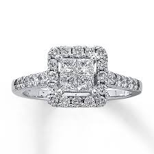 kay jewelers charms kay diamond engagement ring 1 ct tw diamonds 14k white gold