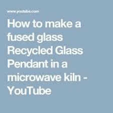 How To Make Fused Glass Jewelry - microwave bead kiln demonstration tutorial youtube jewellery
