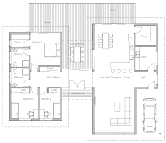 modern open floor plans floor plan friday 3 bedroom modern house with high ceilings open plan