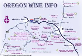 map of oregon wineries the oregon wine info