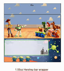 toy story free printable chocolate wrappers parties