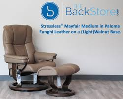 Burgundy Leather Chair And Ottoman Stressless Mayfair Paloma Funghi Leather Recliner Chair And