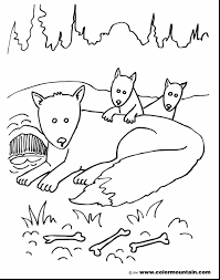extraordinary fox family coloring pages with fox coloring pages