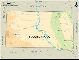 Map Of South Geographical Map Of South Dakota And South Dakota Geographical Maps