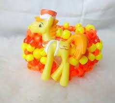 my little pony mr carrot cake 3d carousel kandi cuff rave