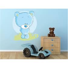 stickers nounours pour chambre bébé stickers nounours bleu stickers ourson chambre bébé stickers