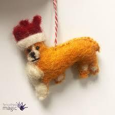 amica dogs hounds corgi xmas christmas tree hanging handmade felt