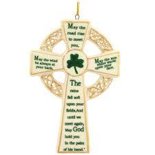 irish cross porcelain ornament ethnic pride christmas