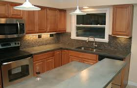 kitchen affordable kitchen design with concrete countertop and