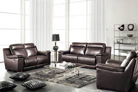 Genuine Leather Sofa Sets Best Of Real Leather Sofa Set Summerlands Powered 3pc Reclining