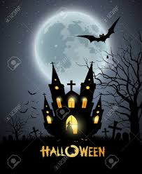 happy halloween party house scary background royalty free cliparts