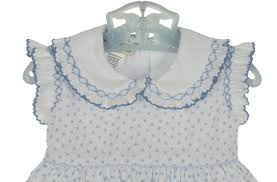 Vintage Style Baby Clothes Marco U0026 Lizzy Blue Hearts Smocked Dress Baby Girls Blue Hearts
