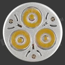 mr16 3w 3 led 270 lumen 3200k warm white light bulb 12v free