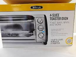 B D 4 Slice Toaster Oven 4 Slice Toaster Oven Bella Toasting Buns Bread Bagels 1000w Silver