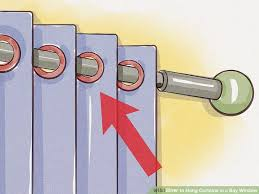 How To Hang Curtains On A Bay Window How To Hang Curtains In A Bay Window 13 Steps With Pictures