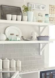 Kitchen Wall Shelf Open Shelving Soapstone Counters Marble Subway Tiles And Soapstone