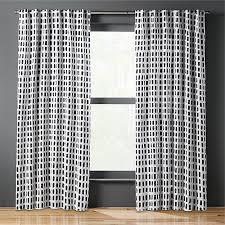 Curtain Panels Korben Plaid Curtain Panel Cb2