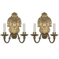Art Glass Sconces Pair Of Bronze And Art Glass Sconces By U0027sterling Bronze Co U0027 N Y