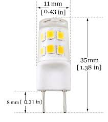 Xenon Lighting Under Cabinet by Bonlux G8 Bi Pin Led Bulb 2 Watts 120v Daylight 6000k 20w