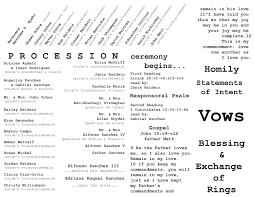 layout of wedding ceremony program catholic wedding ceremony program inside layout graphic design by